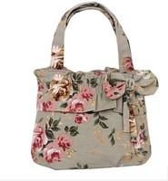 2015 women canvas bag casual handbag Wholesale cute sweet lady handbag