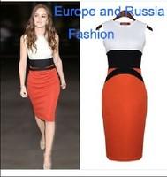 Hot sale Europe style Plus size elegant bandage dress evening for women casual  evening  Midi Bodycon Dress