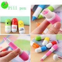 Offer lovely plastic pill ballpen Min order 5000pcs