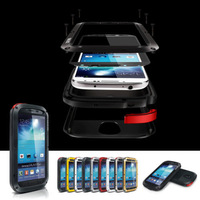 Genuine LOVE MEI Extreme Metal Aluminum Waterproof  Shockproof Dirtproof Case for Samsung Galaxy S4 i9500 + Gorilla Glass