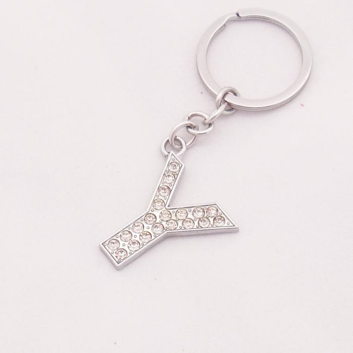 Fancy Letter y Designs Free Shipping 2014 Joyeria Creative Rhinestone Keychain Ring Fancy Letter y