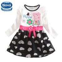 Girls casual dress children princess tutu dresses baby girls party evening 100% cotton dress Nova kids vestidos clothing H4643