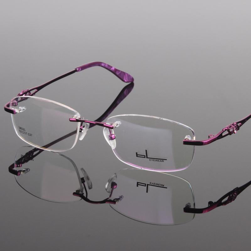 Fashion-rimless-eye-glasses-women-spectatle-frame-glasses ...