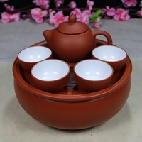 Travel tea set top quality Yixing Kung fu tea set purple sands tea service porcelain drinkware and tea kettle Free shipping
