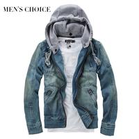 2014 New casual  Fashion Men's denim jacket high quality comfortable male cowboy jacket plus size M-XXXL MWJ089
