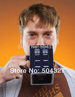 Free Shipping 1Piece Doctor Who: Tardis Mug Ceramic Mug With Removable Lid