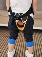 2014 New Arrival Wholesale Hot sell High quality Fashion cotton cartoon big mouth eyes printing children fifth Pants