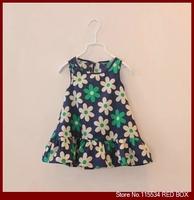 Children's clothing 2014 summer female child baby small flower fresh tank dress tank dress one-piece dress 100% cotton C0082