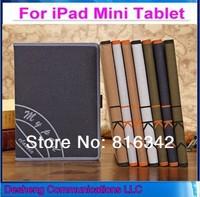High Quality Retro Canvas Genuine Leather Case for iPad mini iPad mini2 Handheld Smart Cover Case for Apple iPad mini Retina