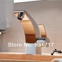 Free shipping faucet bathroom mixer faucet ceramic cartridge chrome single hole bathroom washbasin ho27