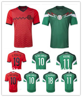 best Thai quality soccer World Cup 2014 soccer jerseys fans version G.DOS Santos Hernandez Mexico soccer  jerseys Aquino