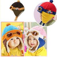 Toddlers Warm Cap Hat Beanie Cool Baby Boy Girl Kids Infant Winter Pilot Aviator Cap Free Drop Shipping