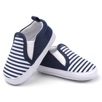 Baby Boy Gentleman Shoes Soft Sole Slip-On First Walkers Striped and Flag Printing For Spring Autumn Footwear Drop Free Shipping