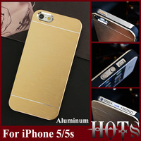 Ultra Thin Aluminum Case for iPhone 5 5g 5s Mobile Phone Bag for apple iPhone 5 Luxury Metal Hard Case Back Cover Retail package