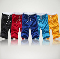 2014 Men 's Swimwear Solid Polyester &  Bamboo Fiber Boardshorts For Men Beach Shorts 5Colors