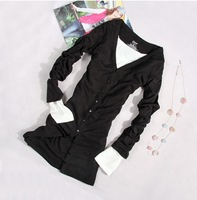 Girl country. The new 2014 women coat. Spring coat. Leisure long-sleeved v-neck single-breasted joker coat sweater