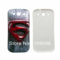 Gray Superman Pattern Battery Replace Door Back Cover Smart Mobile Cell Phone Housing Case Skin For Samsung Galaxy SIII S3 i9300