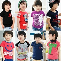 2014 latest explosion models over a variety of children's clothes for men and women T-shirt shirt multicolor