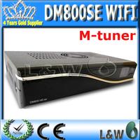 2pcs/lot Free shopping DM 800 hd se dvb s2 alps m tuner with 300M wifi satellite tv receiver box sim2.10 digital hd decoder