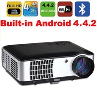 Quad Core Google Android Projector  pc TV led projector Multimedia video 3D TV Projector Native1280*800 full hd for home