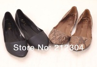 flat shoes snake shallow mouth pointed a large size shoes European size 35--41 Free shipping