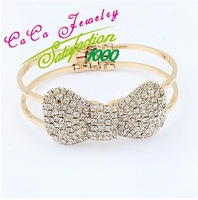European Sweet Imitation Diamond Bow Bracelet For Women S88