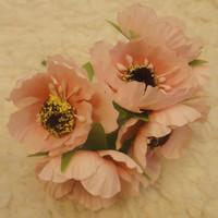 diy craft decoration accessories for wedding&hair garland&scrapbooking,artificial silk camellia flower,tea rose with stamens!