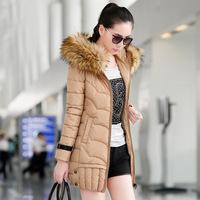 Ms. Brand jacket Slim Korean female models thick winter long down coat padded jacket female models