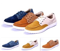 Free shipping 3 color High quality Men casual Suede leather shoes mens sneakers loafer leather Shoes lace-up light men shoes