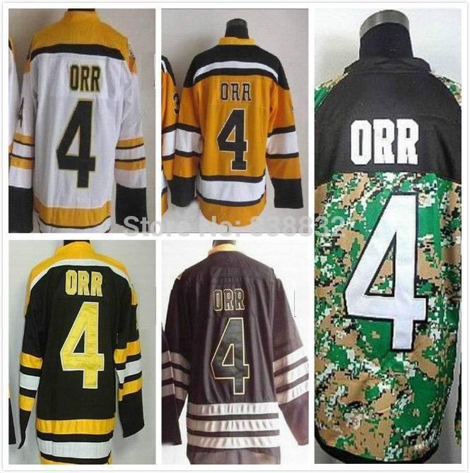 Дешевые Бобби Орр Джерси #4 Хоккей
