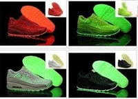 5Color Drop Shipping Free Shipping Wholesale Famous 90 Glow in the Dark Men's Sports Running Shoes Women's trainers Maxs shoes