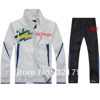 Free shipping,2014 Spring men famous brand AD sportswear set jacket with pant breathable track suit set