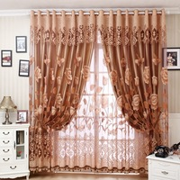 new 2014 jacquard blackout sheer curtains shade for windows screens for living room voile blinds cortinas tulles fo kids bedroom
