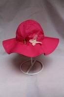 2014 New Children Caps Red Butterfly  Summer Sunbonnet Embroider Bucket Hats Baby Girl  Gift Hat  Beach Cap size 48,50,52cm