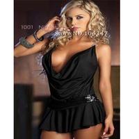 Fashion Black Suspenders Sexy Sleepwear Lingerie Hot lingerie Sexy Dress Suit Erotic Underwear YHF