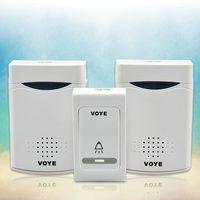 2014 New Fashion Free Shiiping ! Wireless 100m Remote 2 Receiver Doorbell Digital Door Bell Set