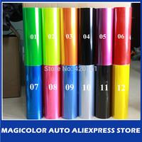 30cm x200cm glossy Auto Car taillight Film Green/Yellow/Red/Black/Orange/Pink/Blue/Purple Color Headlight Film/Tint