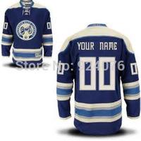 Custom COLUMBUS BLUE JACKETS Jersey Authentic Personalized - Hockey Jerseys Cheap ICE Jersey Number & Nane Sewn On (XS-5XL)