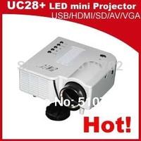 Hot selling! Digital Video AV mini game portable LED proyector projector Beamer Projetor with HDMI VGA AV  USB, SD free shipping