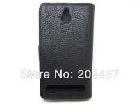 for Sony Xperia E1 Lichee Leather Wallet Case 10pcs/lot