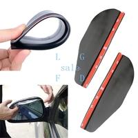 New Smart Flexible Plastic Car Rear view mirror Rain Shade Guard Black 4189