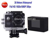 Free shipping 2014 New Full HD 1920x1080P 30m Waterproof Sports Action Camera Waterproof Photo Motorcycle Bicycle Camera