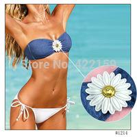 European Brand New Sexy Women Bikini Sets Seperated Strapless Swimwears Lady Beachwear Bathing Suit Free Shipping