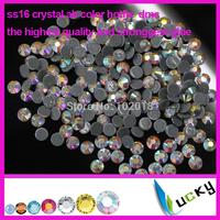 Highest Quality hot fix rhinestones copy swarov 2038 DMC! 1440pcs ss16/4mm AB Color heat strass crystal for iron on transfers