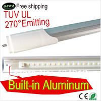 CE/RoHS/TUV/UL 18W free shiping 10pcs high quality t8 led tube 1200mm TUV ul lamp 270 degree emitting led fluorescent lamp