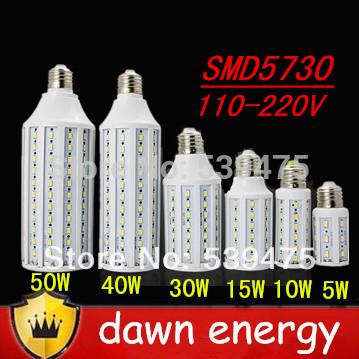 E27 E14 B22 5W 10W 15W 25W 30W 40W 50W LED Corn Bulb Bulbs 220V 42 60 84 98 132 165 leds 5630 5730 smd LED Spot Light Lamp Free(China (Mainland))