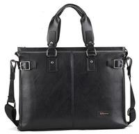 """Men's Genuine Leather Handbag Messenger Shoulder Briefcase 14"""" Laptop Bag Briefcase Maikejezi"""