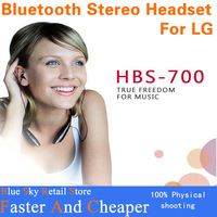 Hot sale 5pcs/lot HBS 700 Wireless Sport Bluetooth Stereo Headset Neckband Earphone Handsfree for Cell Phones iPhone lg samsung