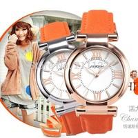 2014 Newest Arrival SINOBI Brand Dress Gold Watch for Women Leather Belt Quartz Fashion Lady Wristwatch Waterproof SN1002