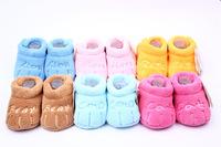 Winter Warm Snow Girl Boy Cotton Baby Anti-slip Sock Prewalker Newborn Shoes